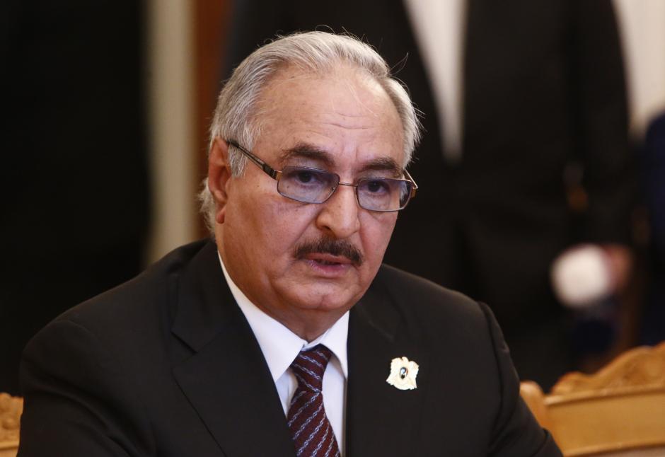 Salameh Shows Optimism about Solving Libya Crisis after Meeting Haftar