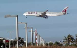 Qatar Airways plane is seen in Doha