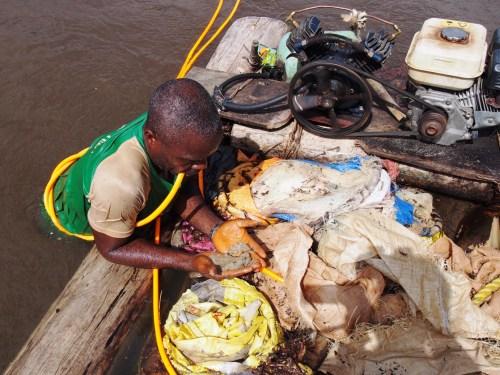 Artisanal Diamond Digger in Liberia