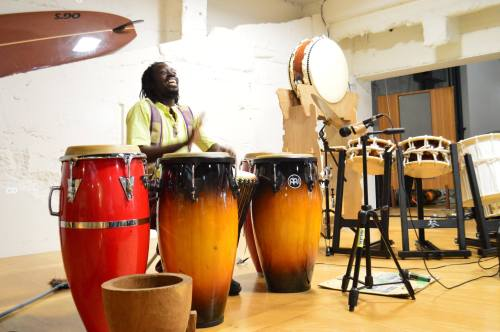 Oswald Kouame, percussionist from Cote d'Ivoire
