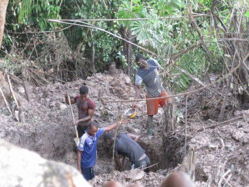 Mining claim in Bellekpalamu