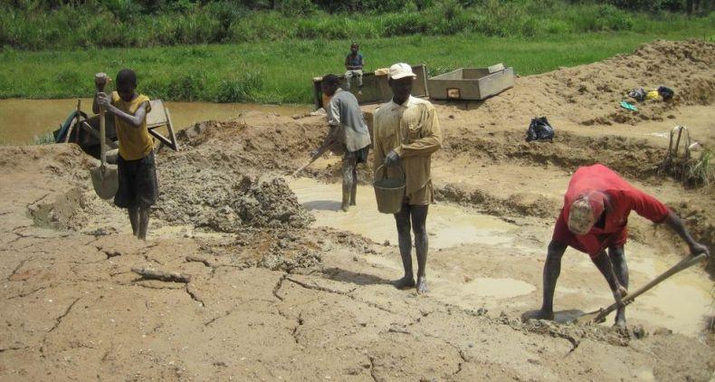 child labor diamond mine sierra leone