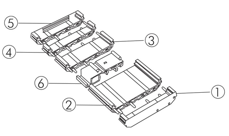 M 72 Support One: DIN rail (EN 60715) mounting modular