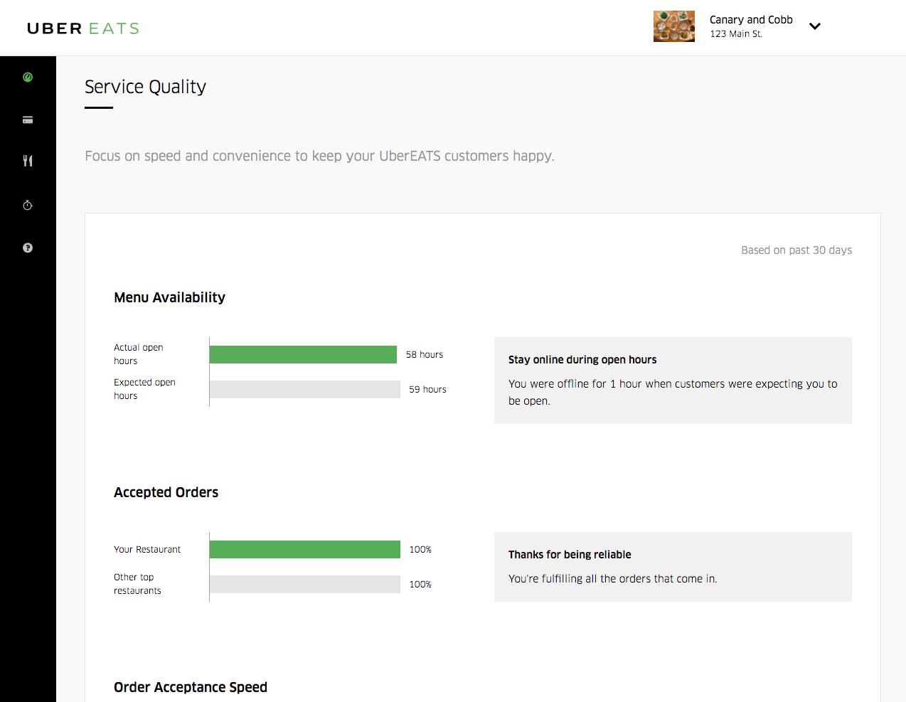 uber restaurant portal