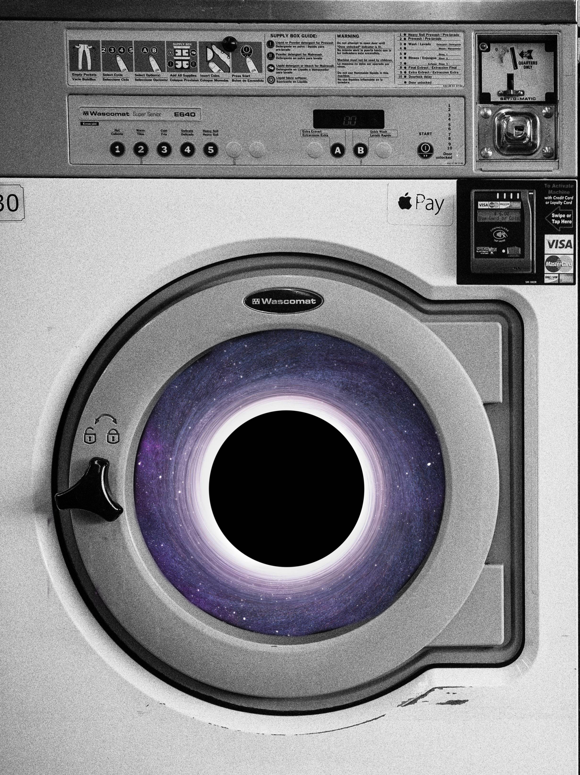 black hole + washing machine