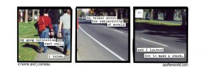 3 panel photo comic from A Softer World