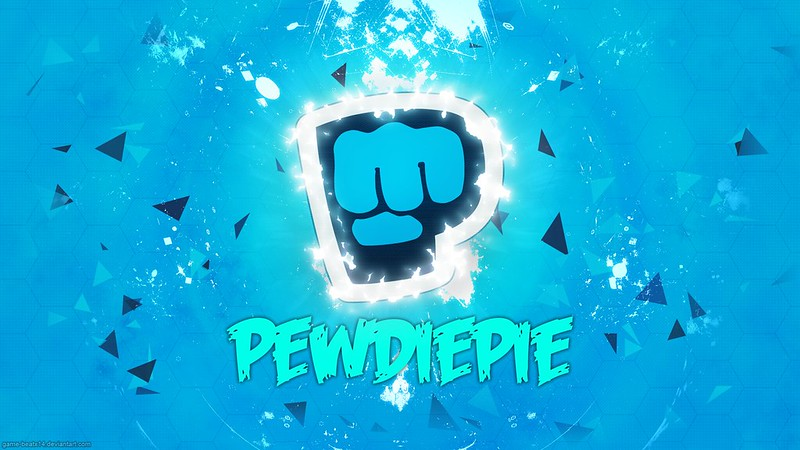 The logo of Pewdiepie, an internet personality notorious for his frequent use of slurs.
