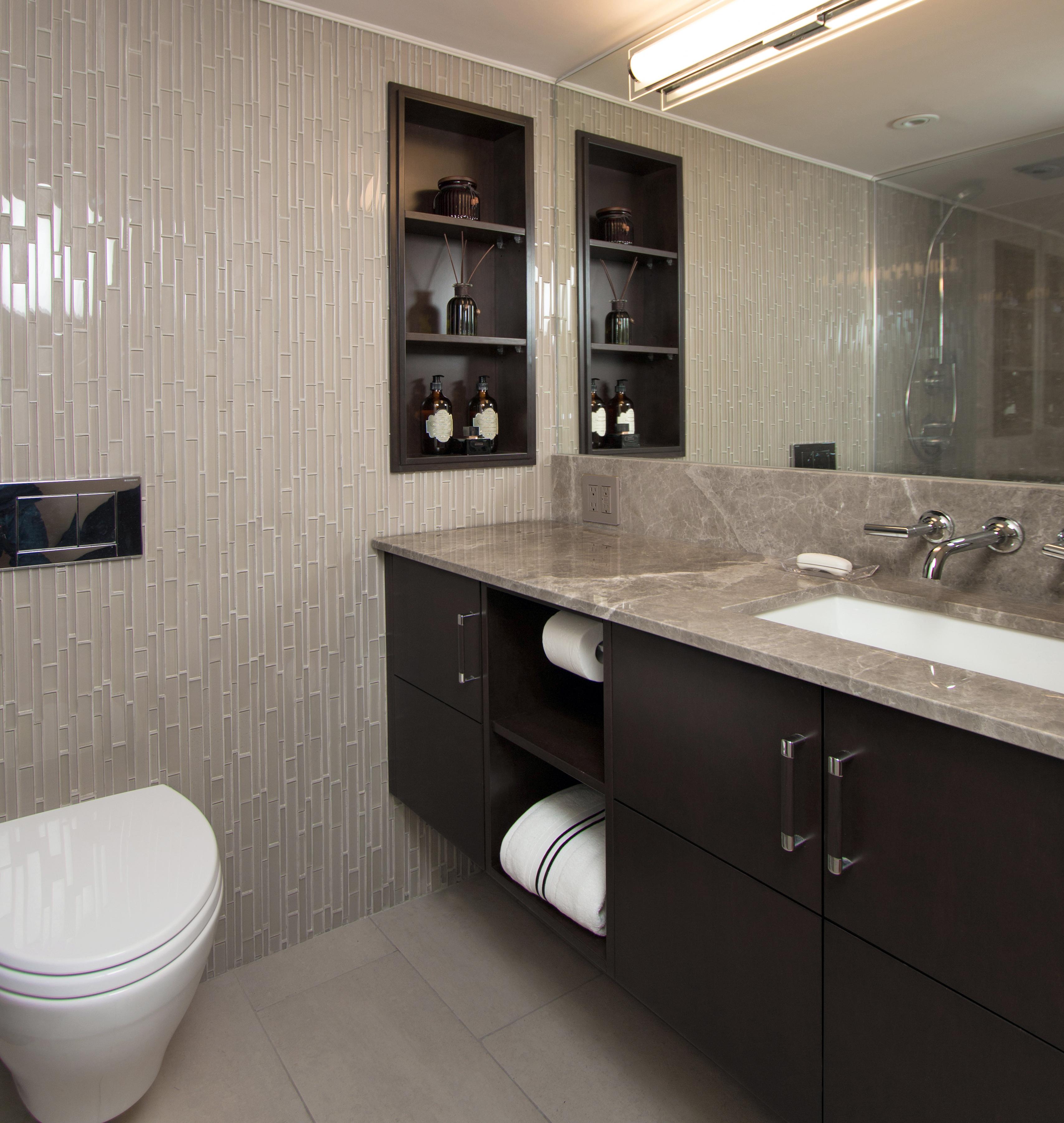 Modernized Marble Bathroom