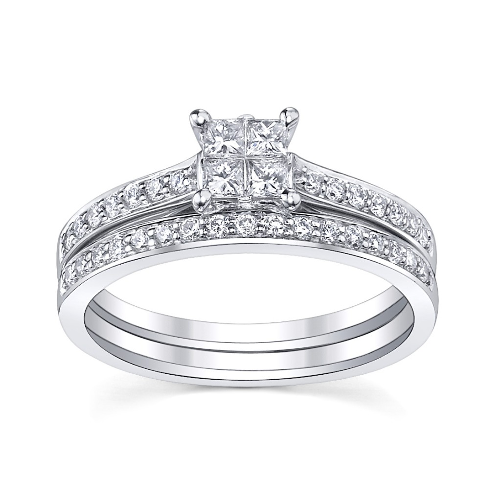 Bridal Sets: Princess Cut Diamond Bridal Sets