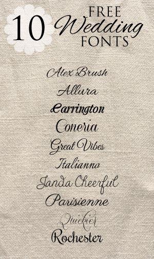 free wedding fonts # 69