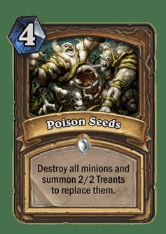poison seeds- Hearthstone Curse of Naxxramas Card