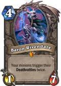 Baron Rivendare Hearthstone: Curse of Naxxramas card