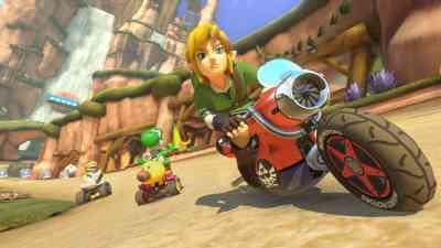 Link Legend of Zelda Mario Kart 8