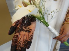 Bridesmaid's Henna and Flower