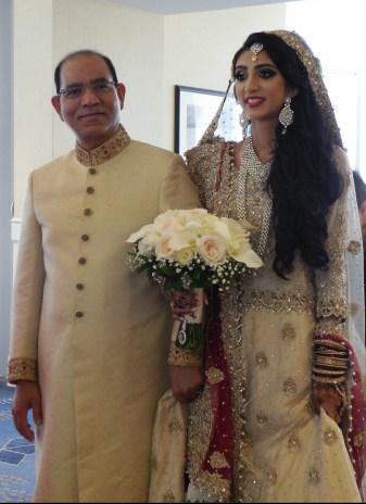 Bride and Father Prepare to Walk Down Aisle