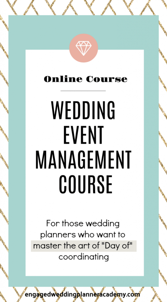 Whether you are a beginner or a seasoned wedding planner, our Wedding Event Management Course can help you refine your skills.Day Of Coordination Education, Event Management Course, how to become a wedding planner, month of planning course, The Wedding Planner Foundations Online Course, wedding planner business, Wedding Planner Class, Wedding planner course, wedding planner education, Wedding Planner Foundations course, wedding planner tools