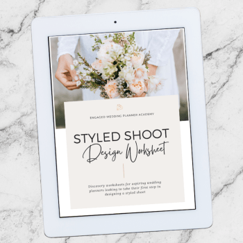 Styled Shoot Design Worksheet