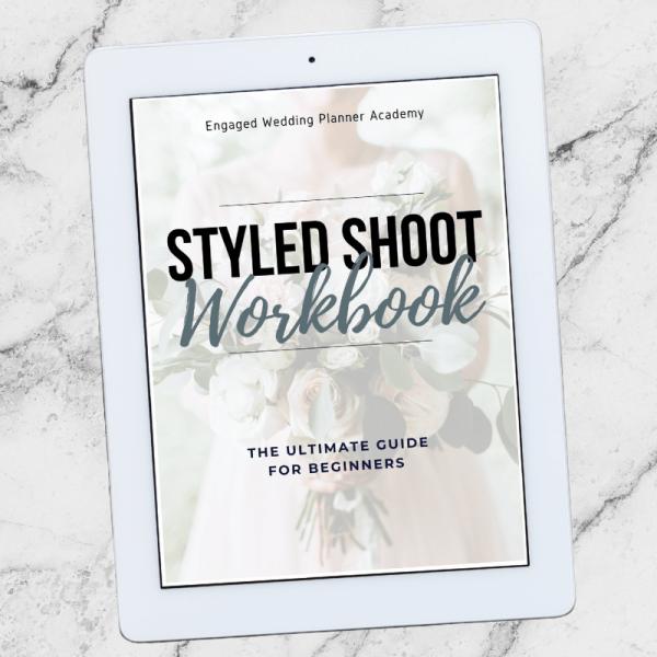 Wedding Planner Styled Shoot Workbook