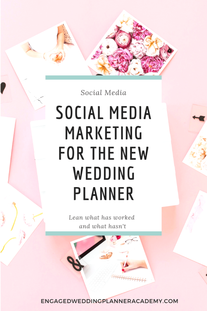 Learn the ins and outs of social media marketing for the new wedding planner. Emma shares her insightful experience as she builds her empire. | Hashtags, How to Start a Wedding Planning Business, Insta Stories, later, Pinterest Keyword Strategy, pinterest marketing, Scheduling Facebook Posts, social media for wedding planners, Social Media Marketing, tailwind, wedding planner business, wedding planner education, Wedding Planner Facebook Posts, Wedding planner Pinterest, wedding planner tools