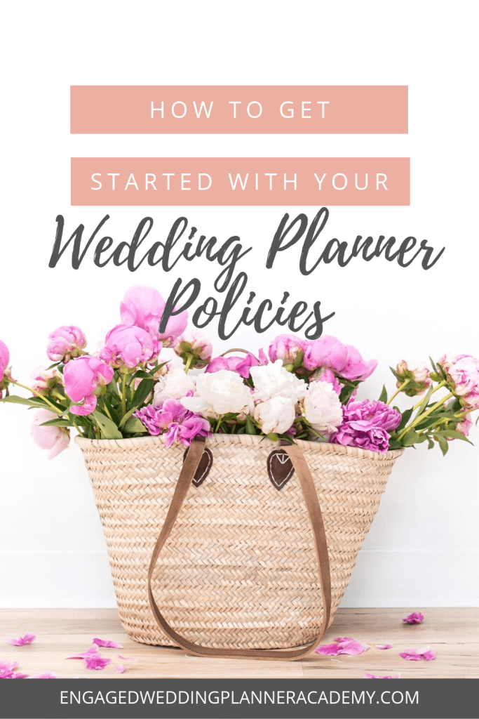 In this post, I explain why having wedding planner policies and procedures in place is crucial for your business.| wedding planner business ideas, wedding planner business template, wedding planner business tips, wedding planner contract, wedding planner guide, wedding planner guidelines, Wedding Planner Policies, wedding planner rules and regulations, wedding planner tips, wedding planning business tools