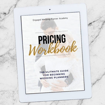 Wedding Planner Pricing Workbook