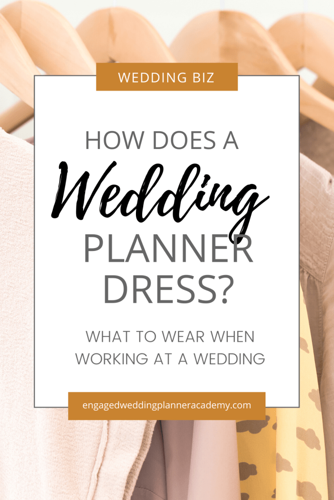 I'm sharing some tips on how to make a great first impression by the way you dress as a wedding planner and where to find additional clothing inspiration. | event planner attire, event planner uniform, event planning interview outfit, ideal outfit for a Professional Wedding Coordinator, wedding coordinator duties, Wedding Planner Outfit, what to wear when working at a wedding