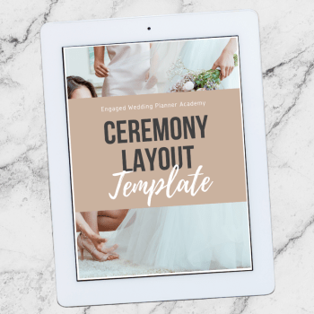 Ceremony Layout Template