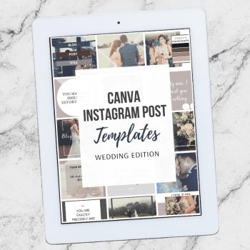 Instagram Wedding Planner Post Templates
