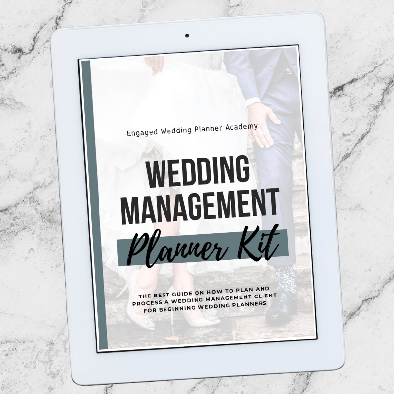 Wedding management is hard work. Our Wedding Management Planner Kit walks you through the process with the email templates, questionnaires, and systems.