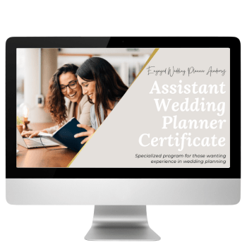 Assistant Wedding Planner Certificate