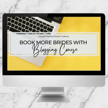 Book More Brides with Blogging Course