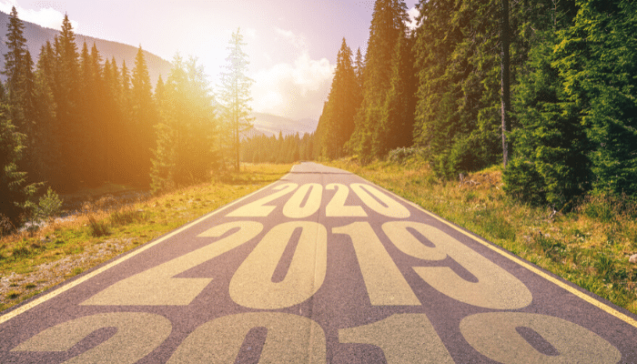 scenic road with 2018, 2019, 2020 written on top