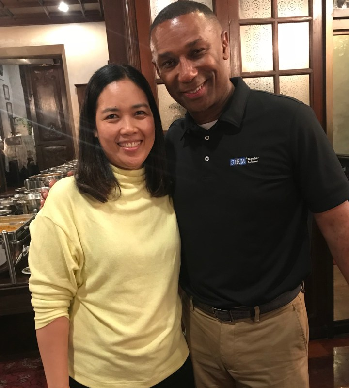Veron with Johnny Taylor, SHRM President