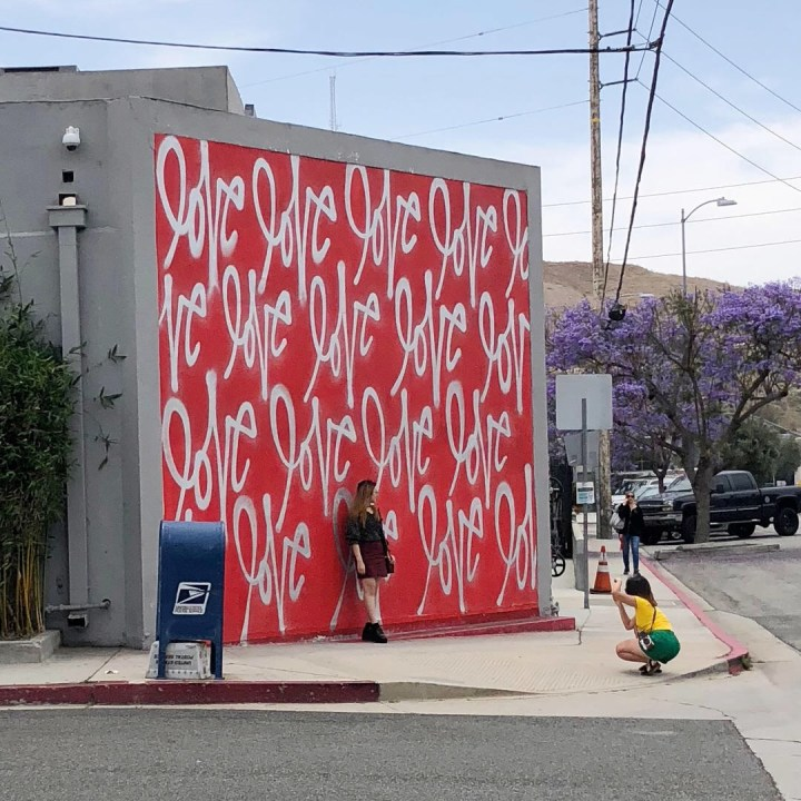 The Love Wall in California