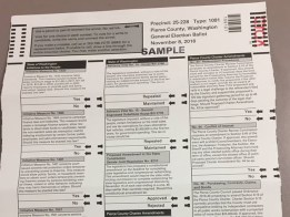 Photo of old ballot