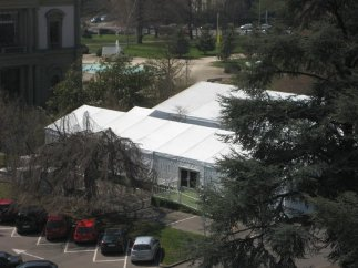 """""""... we saw two big white tents. Which right away flashed me back to the Durban WCAR NGO Forum..."""""""