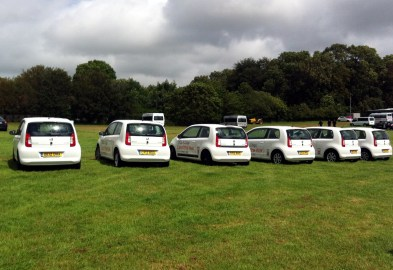 Skoda pulled out all the stops to promote the Citigo. This represents a fraction of the little city-cars dotted around the event.