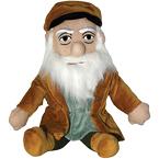"""Leonardo da Vinci """"Little Thinker"""" doll from Unemployed Philosophers Guild"""