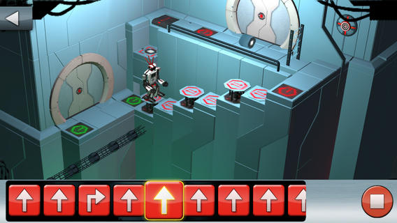Screen shot from Lego Mindstorms Fix the Factory app (this level was HARD for me!)