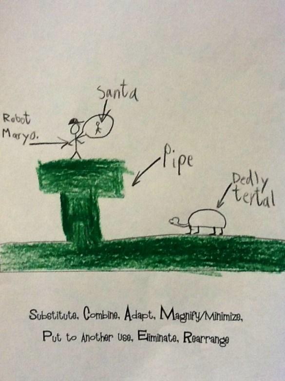 """Santa """"Adapts"""" to a New Environment (a computer game with a """"dedly turtle"""") from S.C.A.M.P.E.R. The Holidays"""