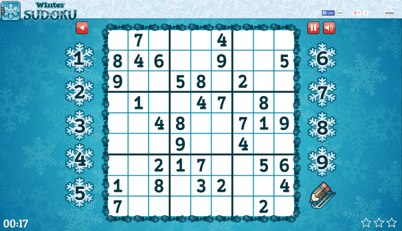 Screen Shot from Winter Sudoku