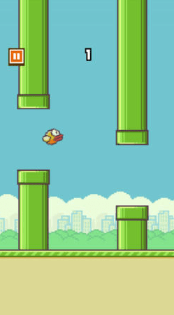 Screen shot from Flappy Bird