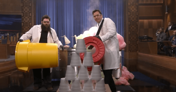 Click here to see the awesome science tricks Kevin Delaney performs on The Tonight Show with Jimmy Fallon!