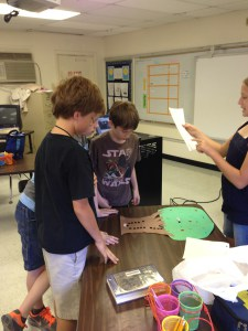 "Students involved in an ""Interactive Genius Hour Presentation"""