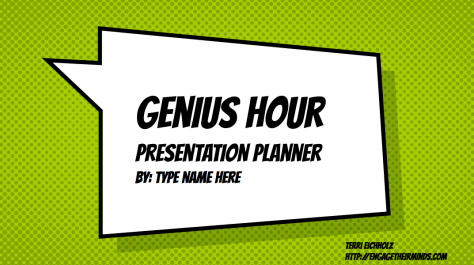 Genius Hour Digital Resources