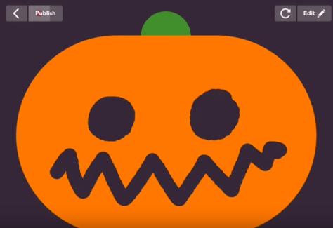 Carve a Pumpkin with the Hopscotch app