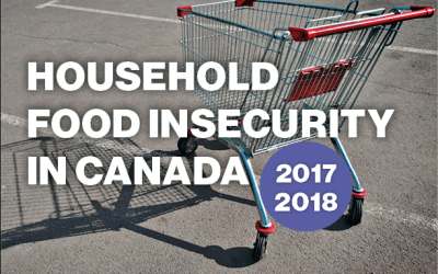 Household Food Insecurity in Canada 2017/2018 from PROOF
