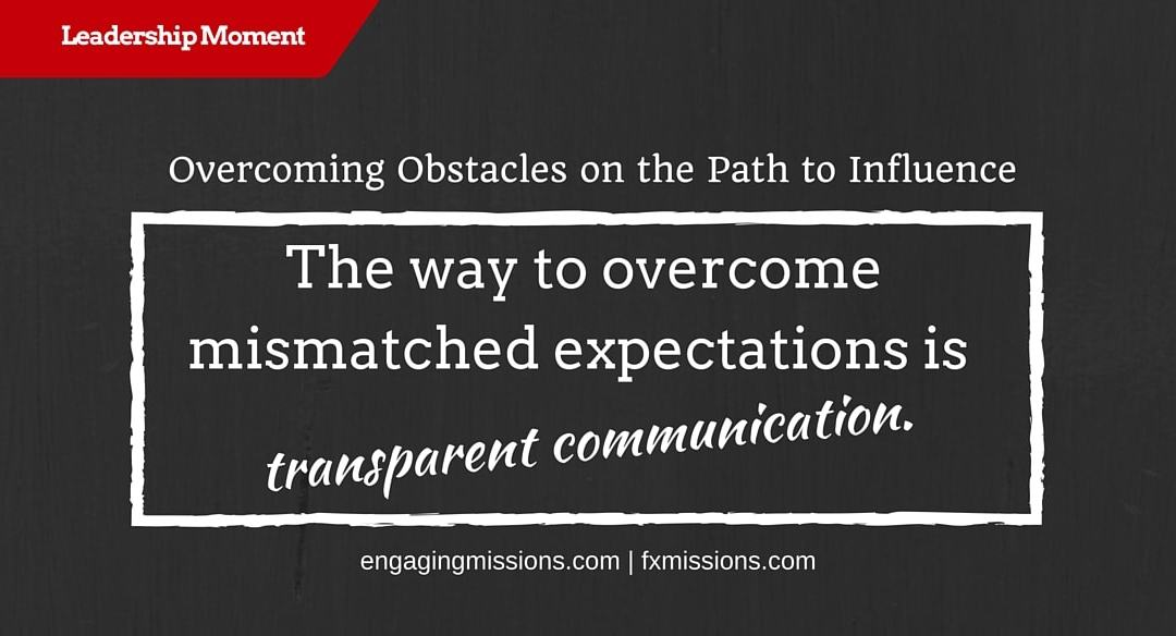 Overcoming Obstacles On The Path To Influence – Foundational Missions Leadership Moment # 45