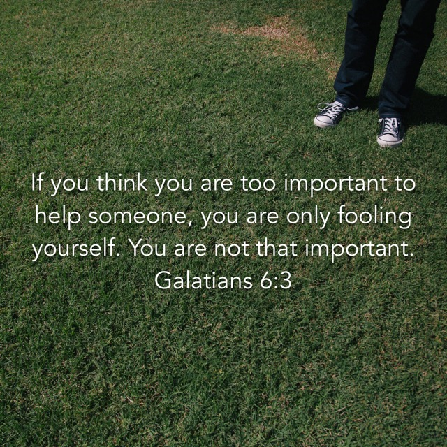 If you think you're too important