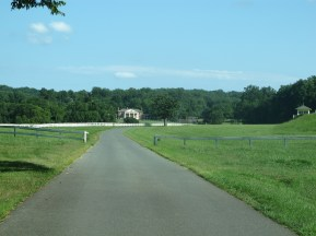 James Madison's Montpelier as seen from the entry drive.